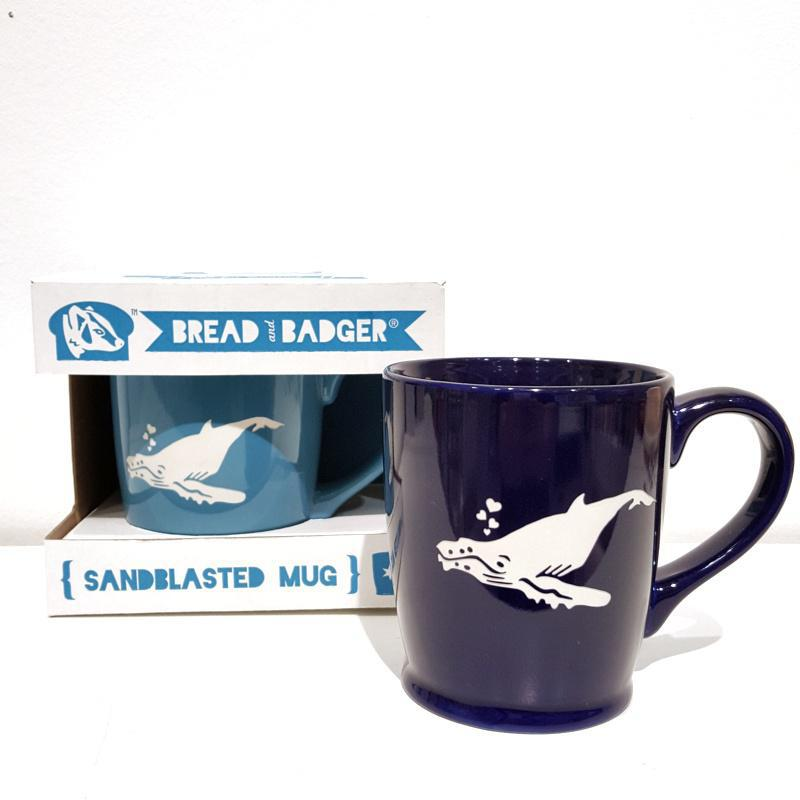 Mug - 16oz Sky Blue Humpback Whale (Retired) by Bread & Badger