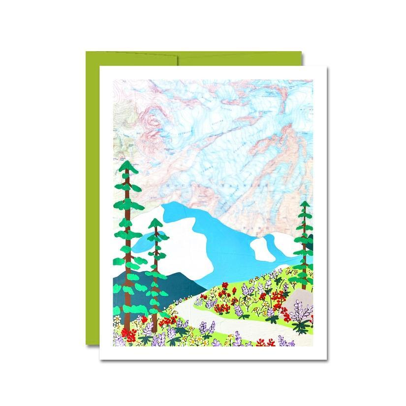 Card - All Occasion - Mount Rainier Flowers by Rachel Austin