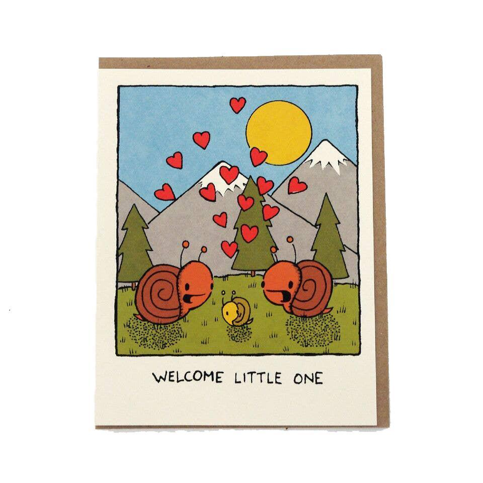 Card - Baby - Welcome Little One by Everyday Balloons Print Shop