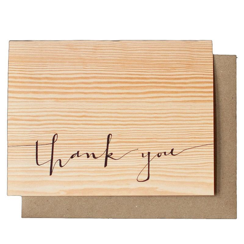 Card - Thank You - Woodgrain by Red Umbrella Designs