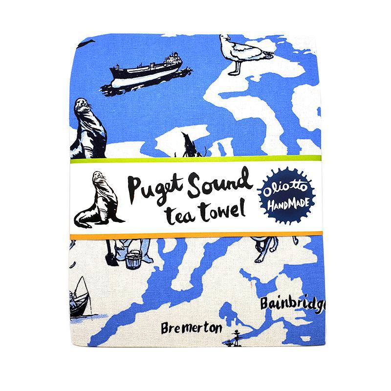 Tea Towels - Puget Sound by Oliotto