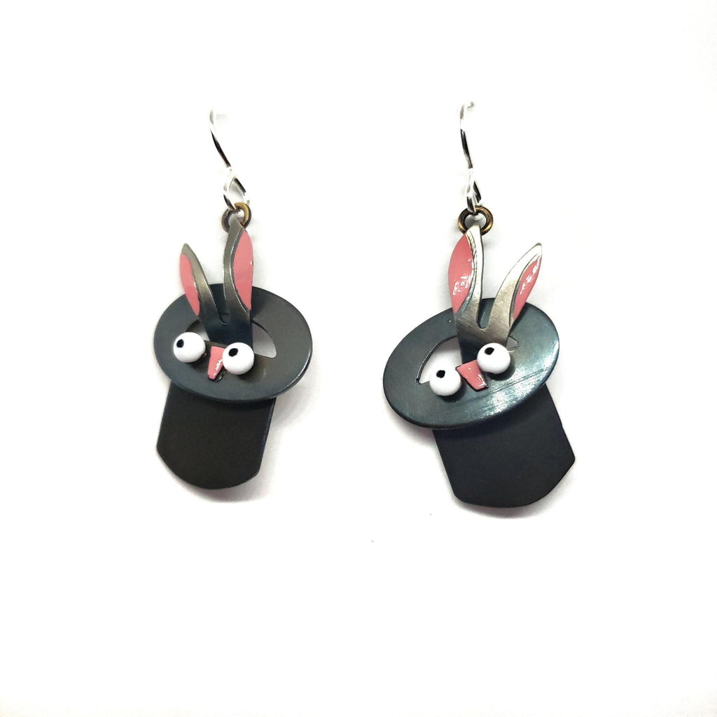 Earrings - Rabbit Out Of Hat by Chickenscratch