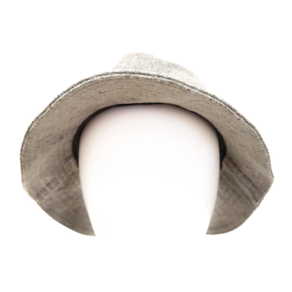Bucket Hat  - Portia - Solid Light Gray - Premium Wool by Flipside Hats