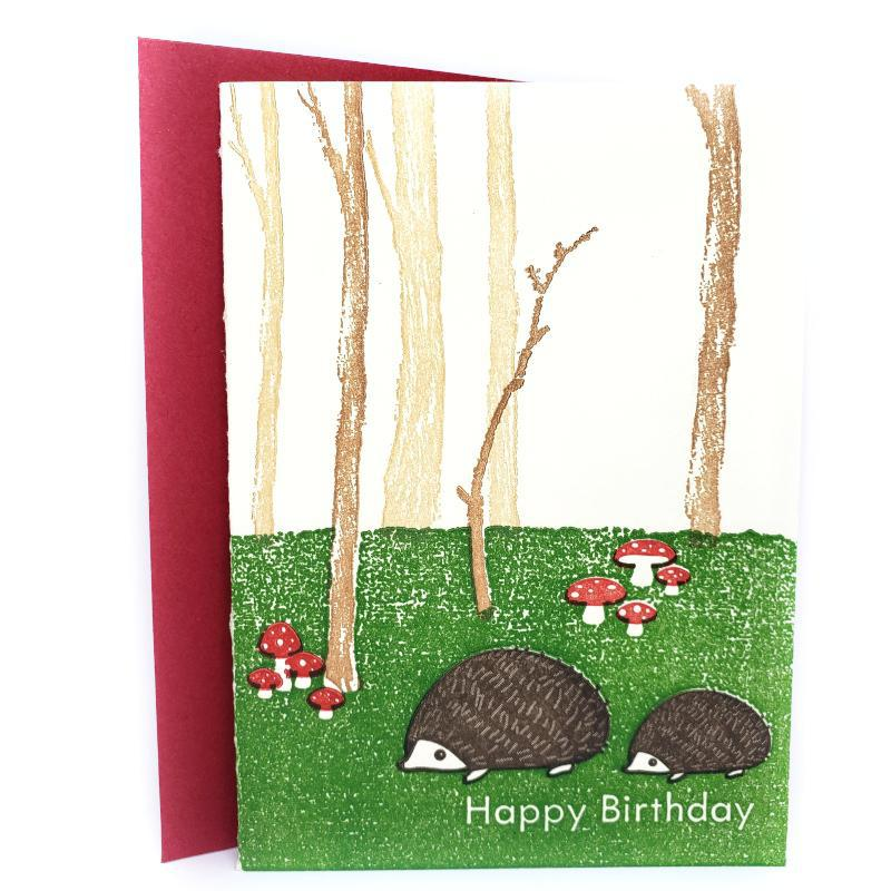 Card - Birthday - Forest Hedgies Happy Birthday by Ilee Papergoods