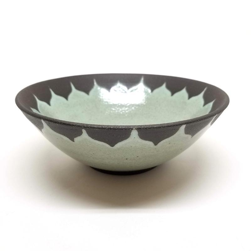 Cereal Bowl - Seafoam Moroccan by Foxtail Pottery