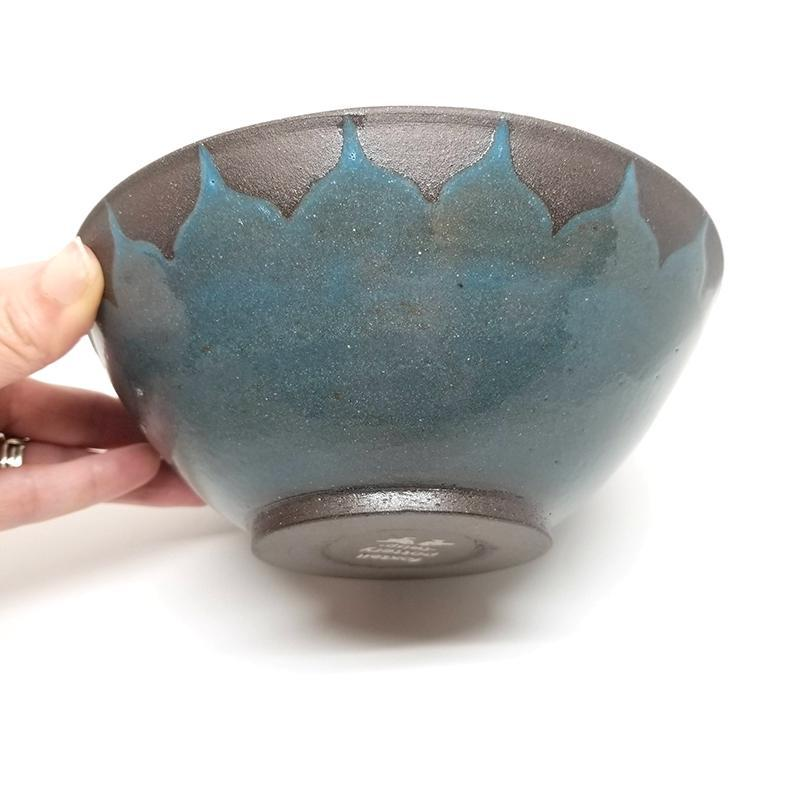 Cereal Bowl - Moroccan TEAL by Foxtail Pottery