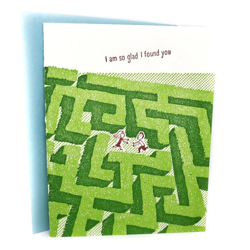 Card - Love & Friends - Maze Glad I Found You by Ilee Papergoods