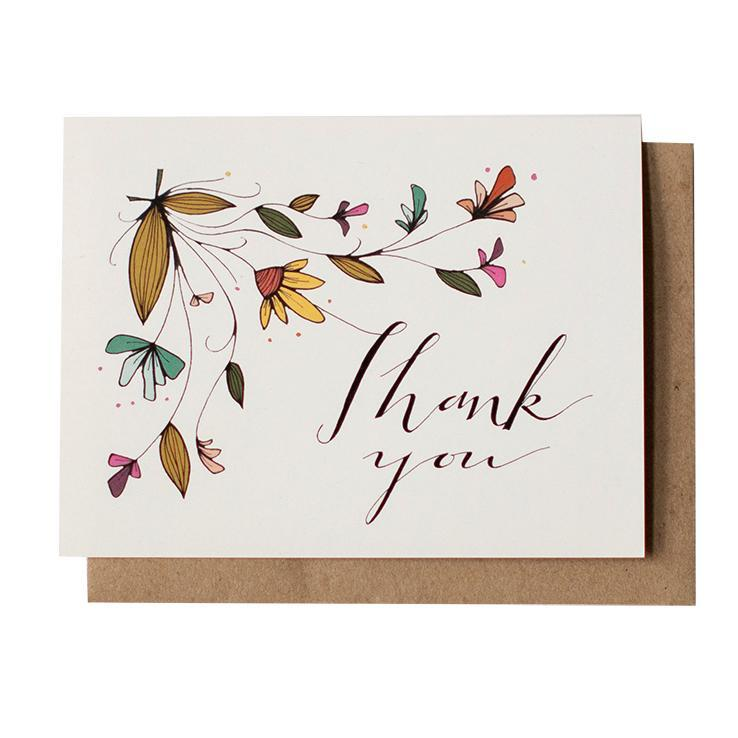 Card - Thank You - Wildflower by Red Umbrella Designs