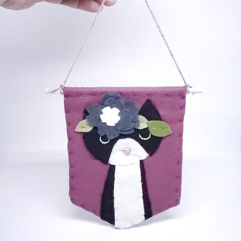 Banner - Tuxedo Cat by Catshy Crafts