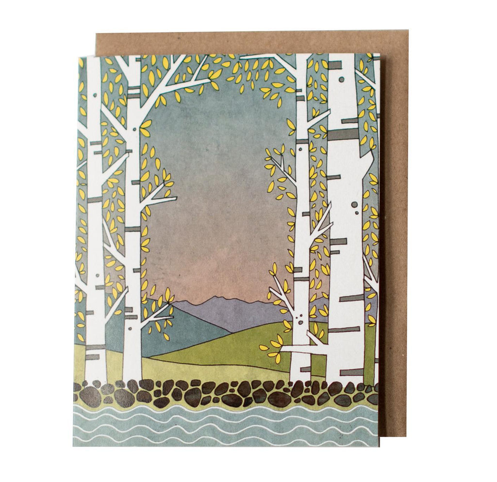 Card - Aspen Lake by Red Umbrella Designs