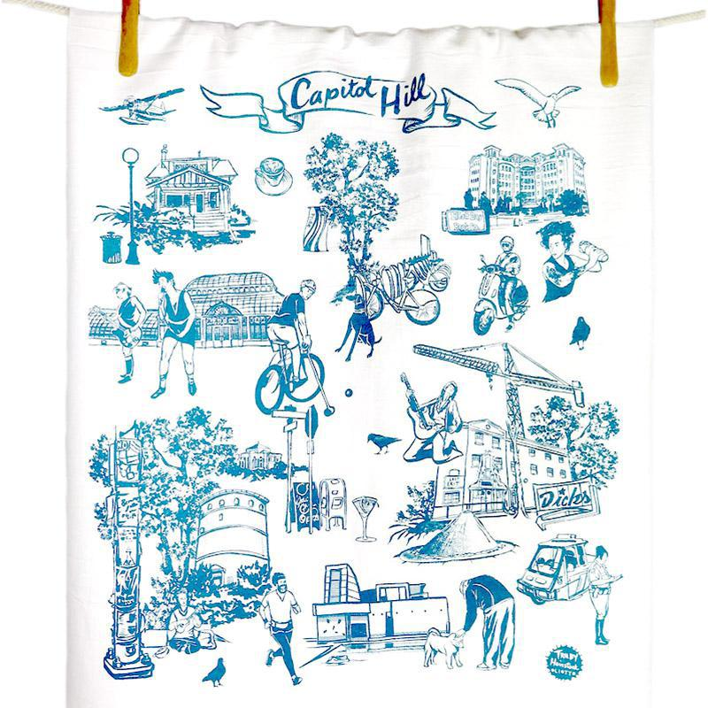 Tea Towels - Capitol Hill by Oliotto