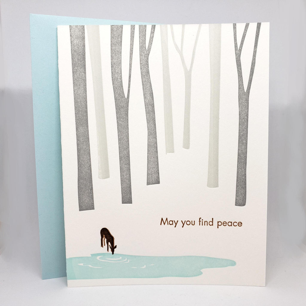 Card - Sympathy - Deer May You Find Peace by Ilee Papergoods