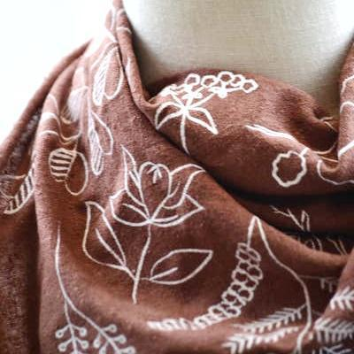 Bandana - Terra Cotta Botanical by Eco Raw Studio