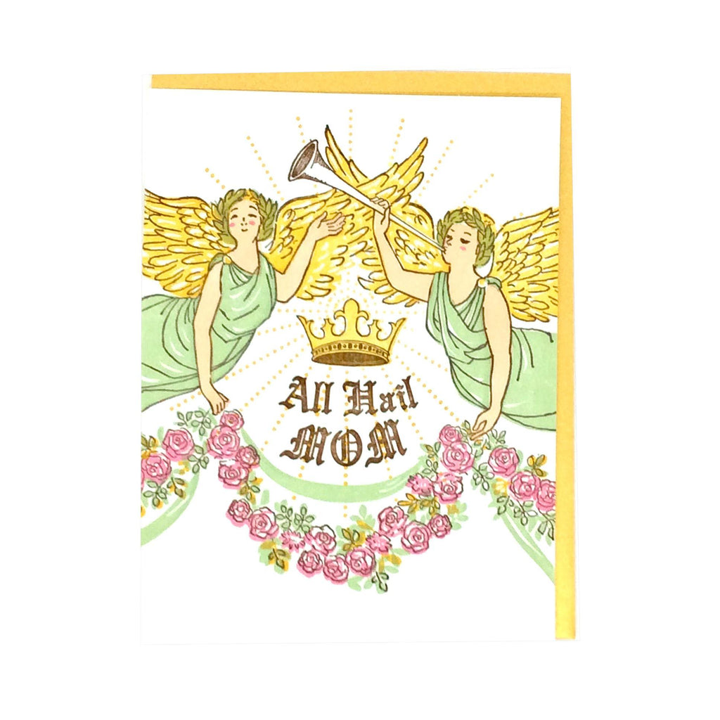 Card - Mother's Day - Angels Hail Mom by Ilee Papergoods