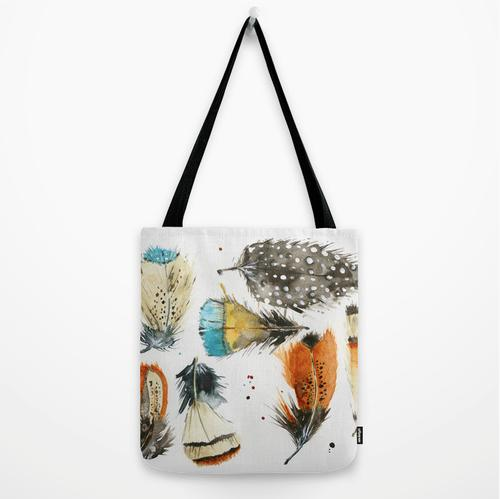 Tote Bag - Feathers by Neptune Creations