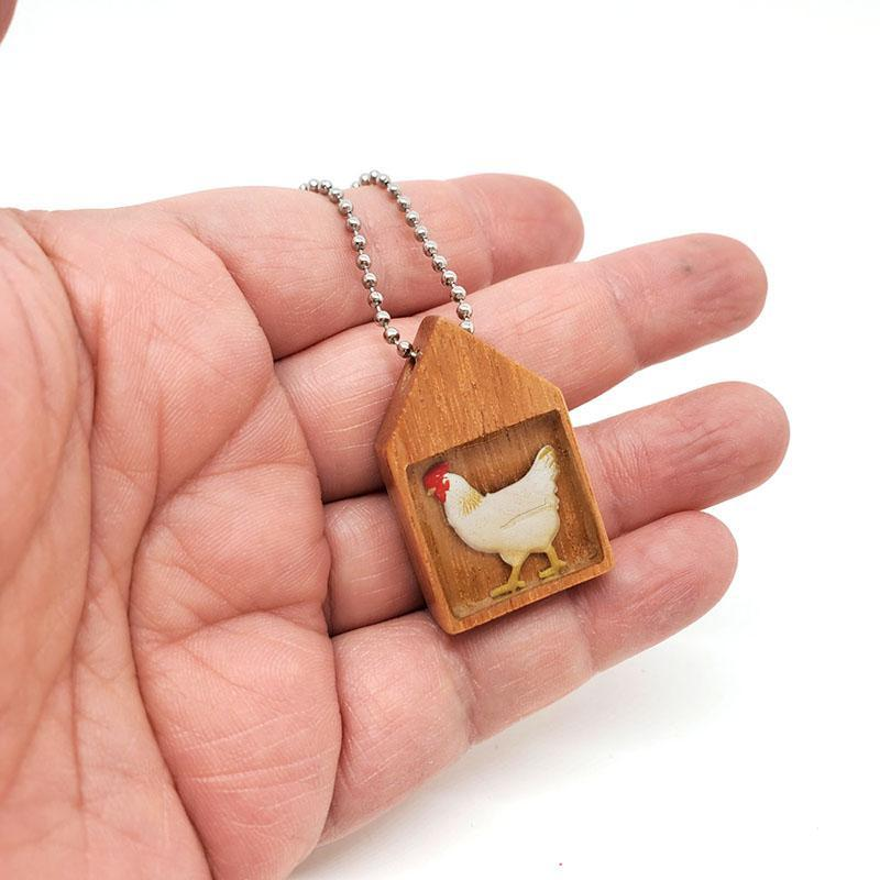Necklace - Chicken in the Hen House Pendant by XV Studios