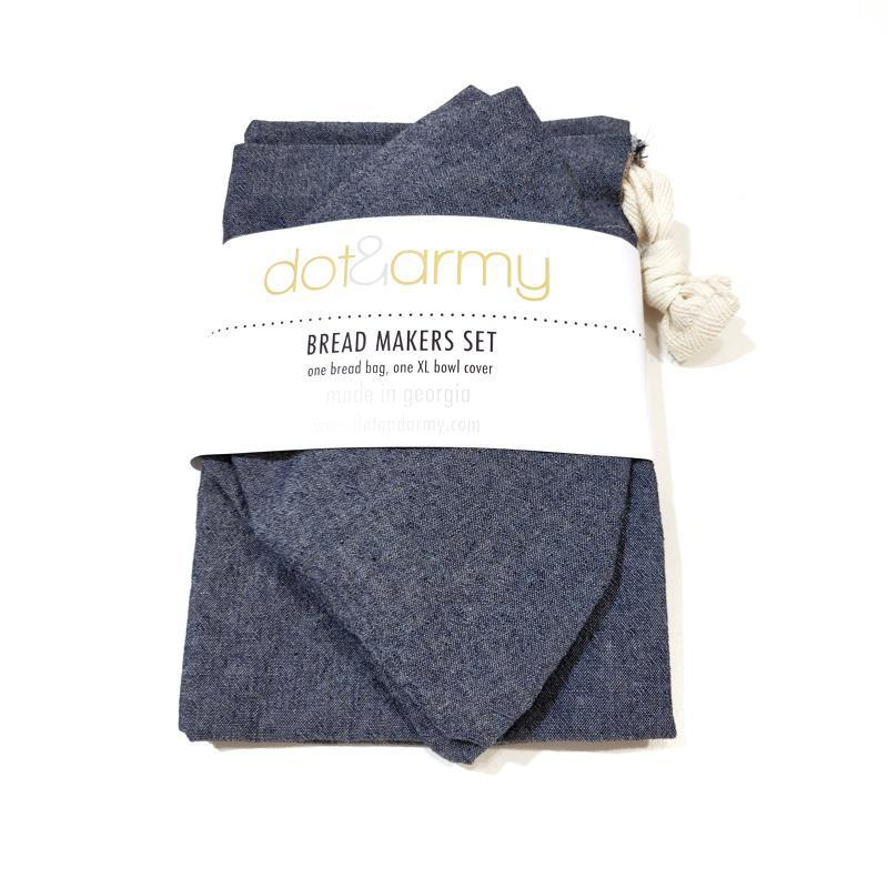 Bread Makers Set (Blue or Windowpane Linen Blend) by Dot and Army