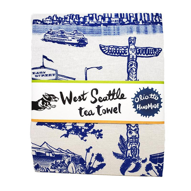 Tea Towel - West Seattle by Oliotto