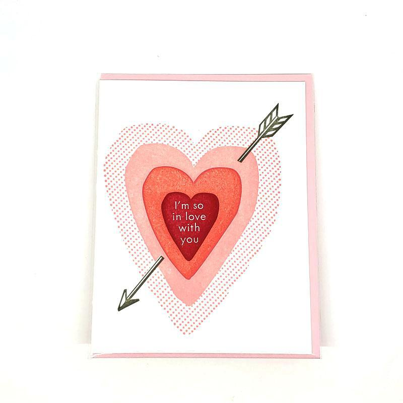 Card - Love & Friends - Heart So in Love by Ilee Papergoods