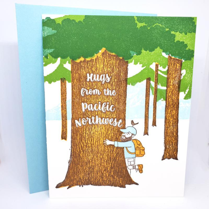 Card - Seattle - Hugs from the PNW by Ilee Papergoods