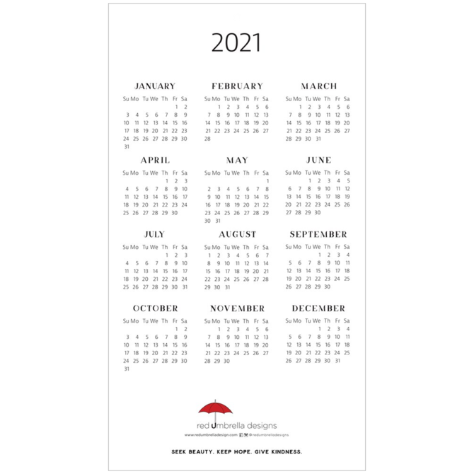 Calendar - 2021 Horizons Calendar by Red Umbrella