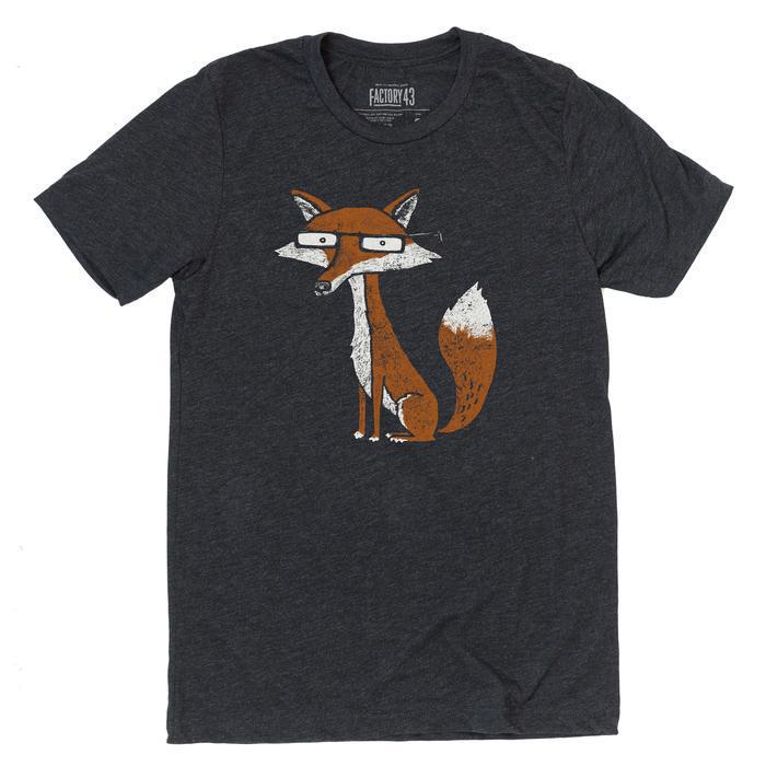 Adult FOX(F) Crew Neck Tee Charcoal Triblend by Factory 43