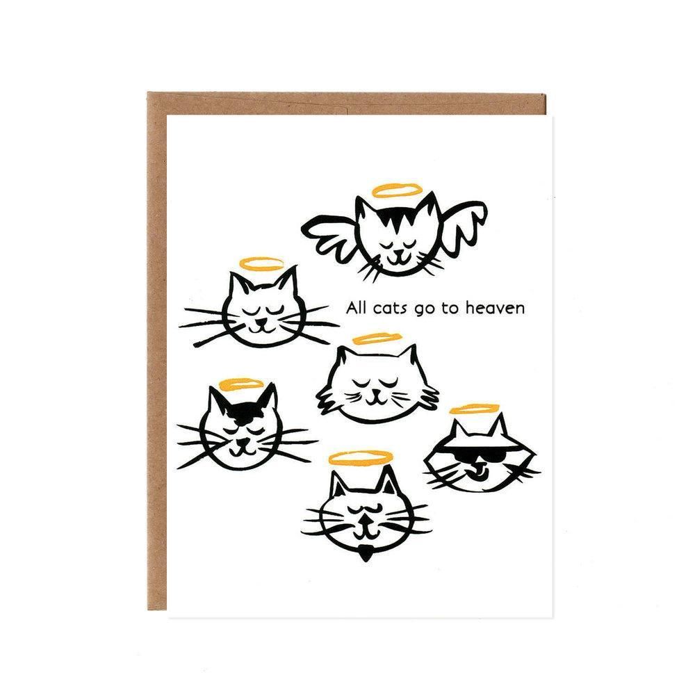 Card - Sympathy - All Cats Go to Heaven by Orange Twist