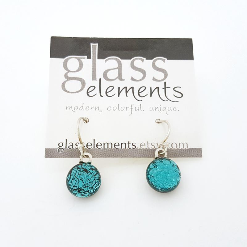 GEEF28 $28 - Teal French Hook Earrings
