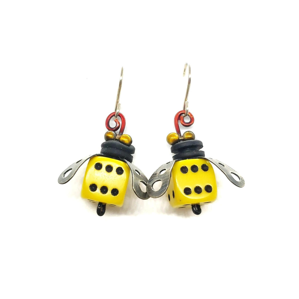 Earrings - Boxcar Bee by Chickenscratch