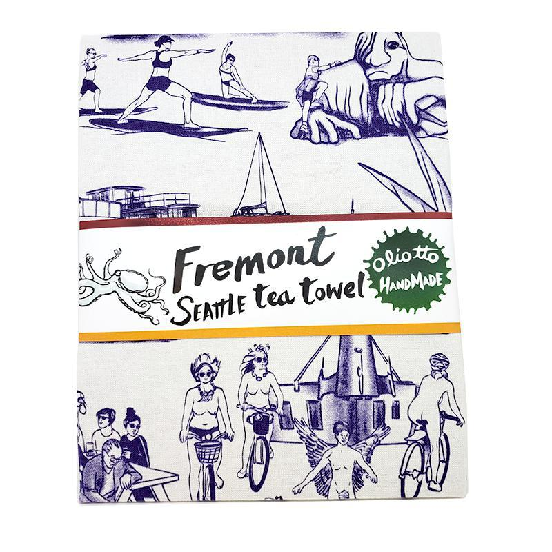 Tea Towels - Fremont Purple by Oliotto