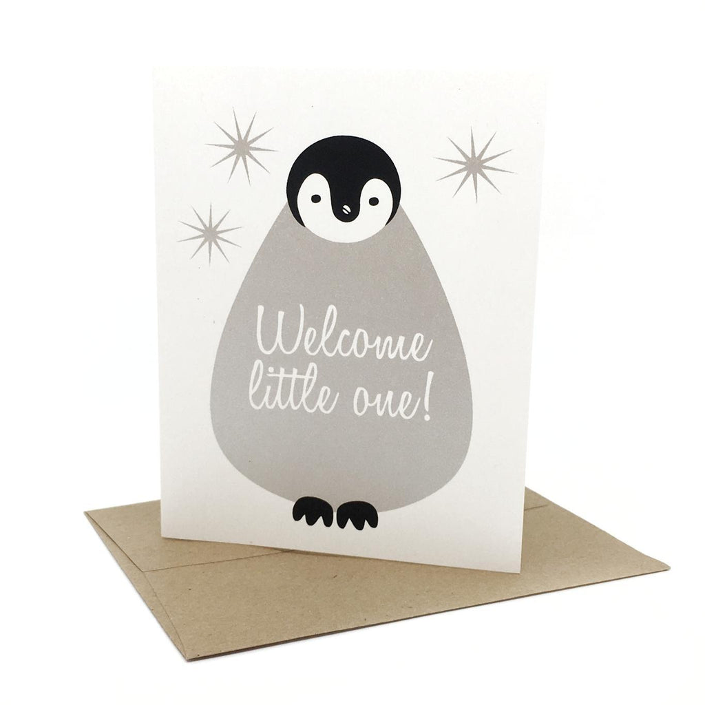 Card - Baby - Penguin Welcome Little One by Orange Twist