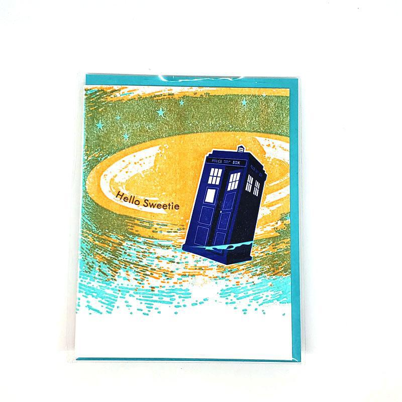 Card - Love & Friends - Police Box Hello Sweetie by Ilee Papergoods