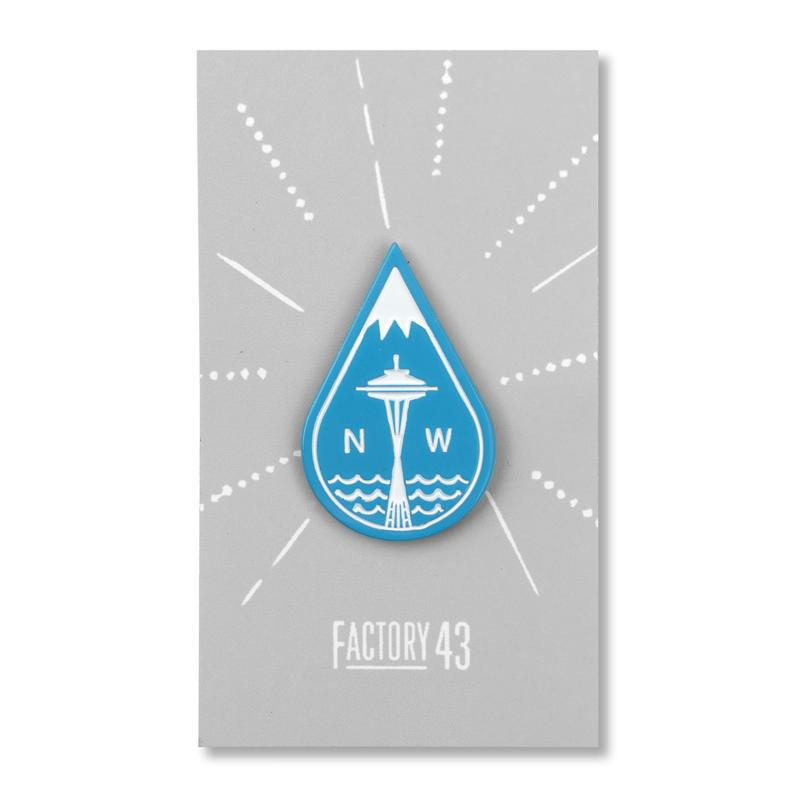 Enamel Pin - Rain Drop by Factory 43