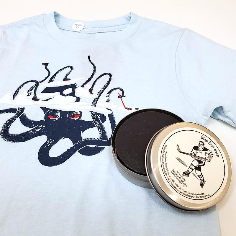 Gift Bundle - Kids Ice Monster Wants to Play Hockey featuring Factory 43 and Seattle Sundries