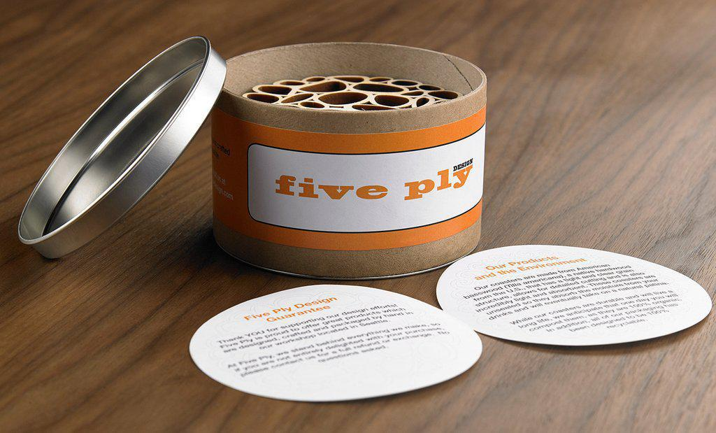 Coasters - Tubes set of 6 by Five Ply Design