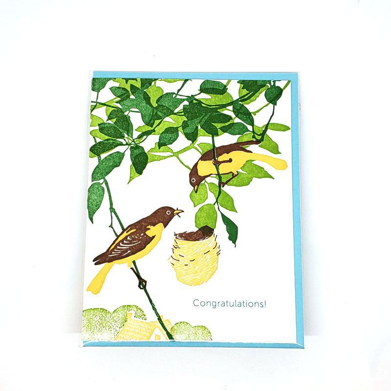 Card - Congratulations - Bird & Nest Congratulations by Ilee Papergoods