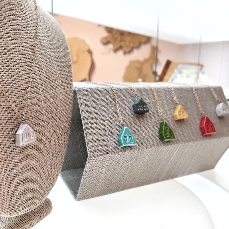 Necklace - House Pendant (Assorted Colors) by Tasha McKelvey