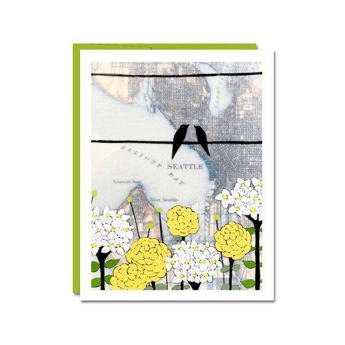 Card - All Occasion - Pretty Seattle by Rachel Austin Art