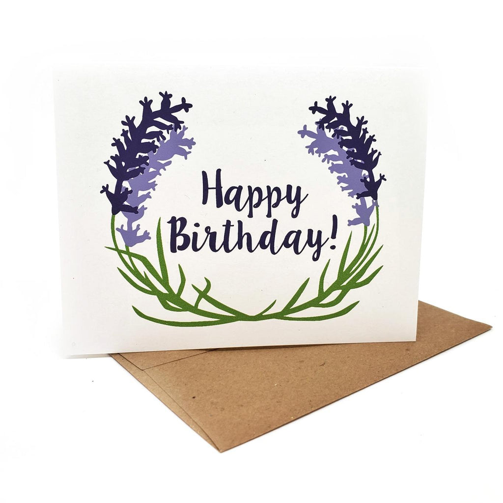 Card - Birthday - Lavender Birthday by Orange Twist