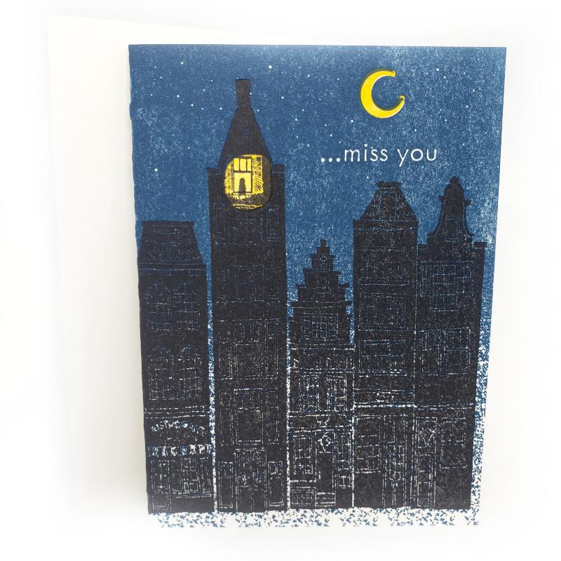 Card - Love & Friends - Buildings Miss You by Ilee Papergoods