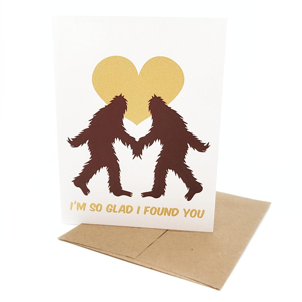 Card - Glad I Found You Sasquatch Heart by Orange Twist