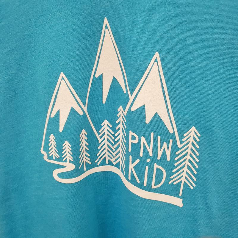 Kids Tee - 2T PNW Kids Blue by Red Umbrella Designs