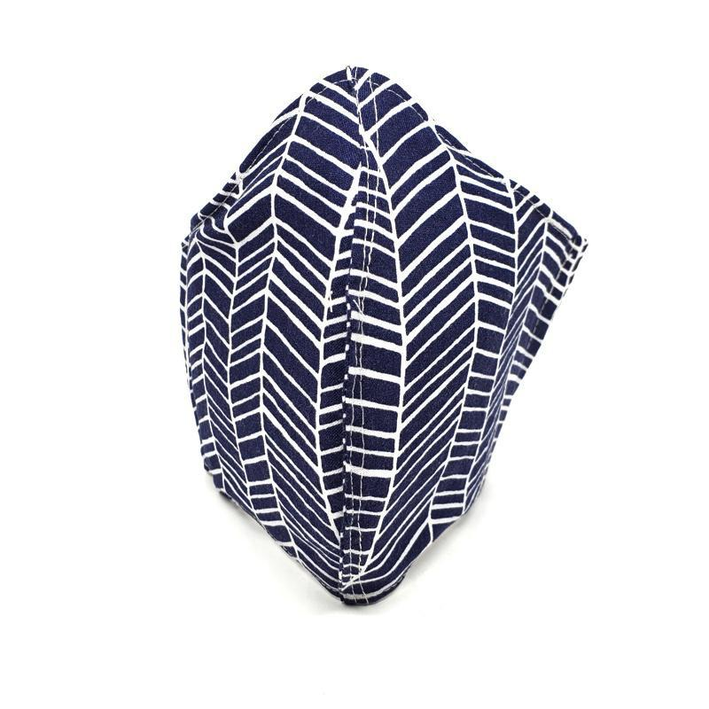Medium - White Feather Stripes on Navy by imakecutestuff