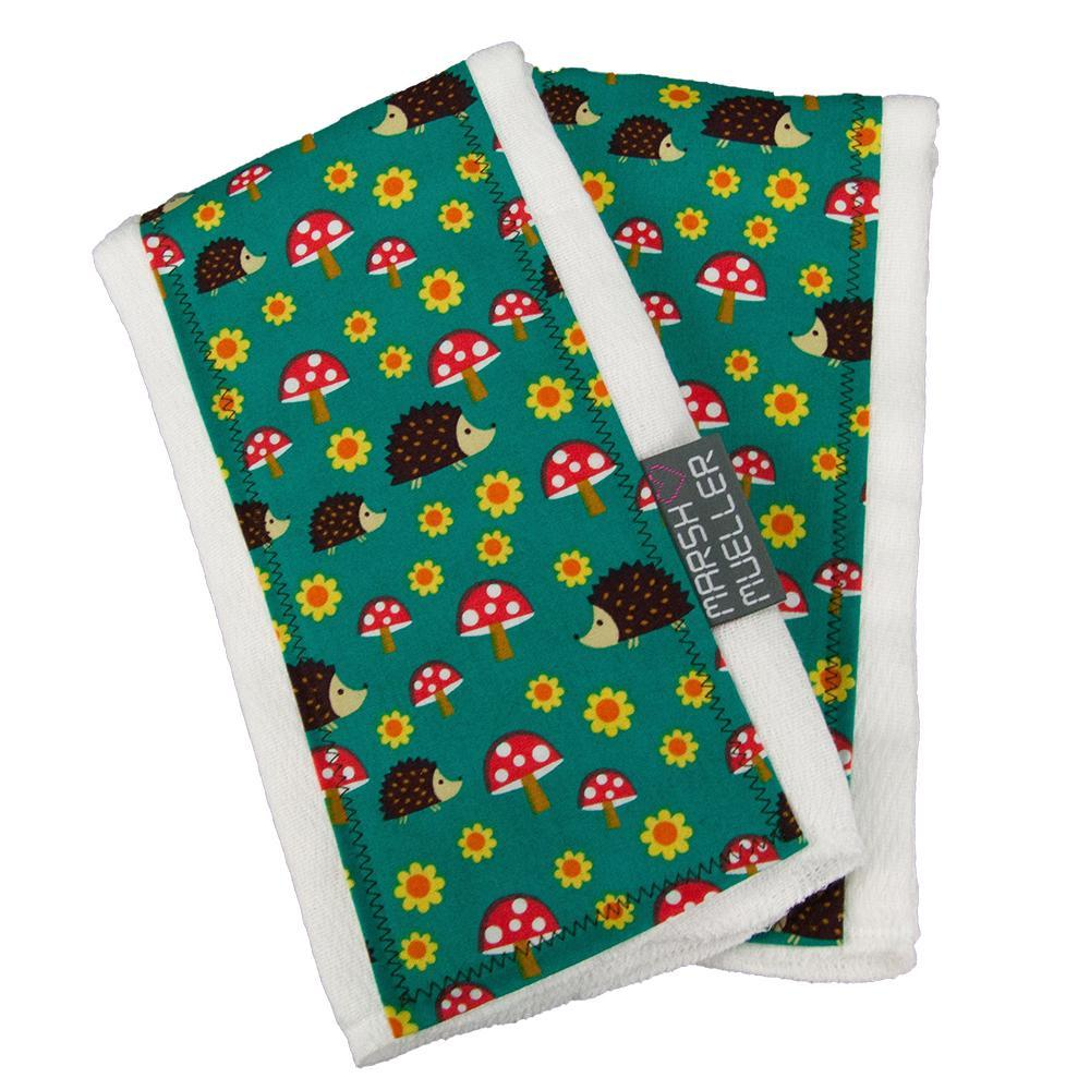 Burp Cloth Set - Hedgehogs by MarshMueller