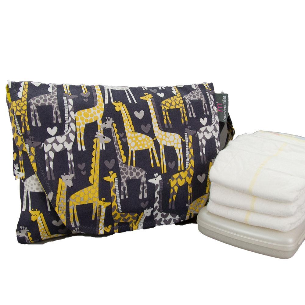 Diaper and Wipe Clutch - Giraffes and Hearts by MarshMueller