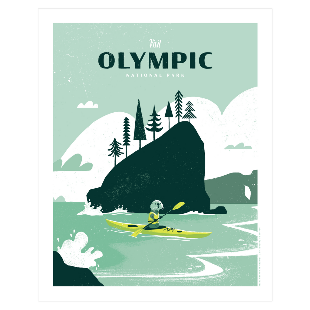 Art Print - 16x20 OLYMPIC NATIONAL PARK Limited Edition Posters and Prints by Factory 43