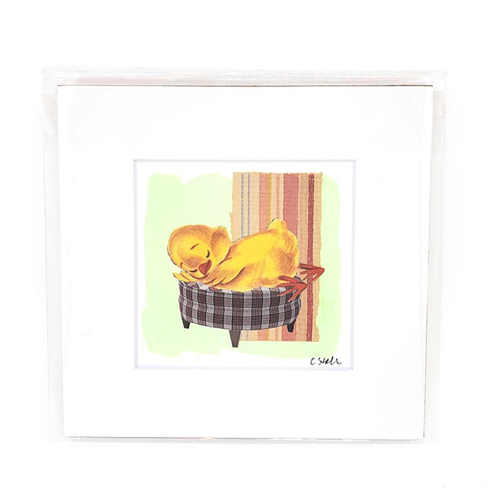 Collage (unframed) - 4x4 - Baby Chick (6x6 mat) Creature Comforts by Christine Stoll Studio