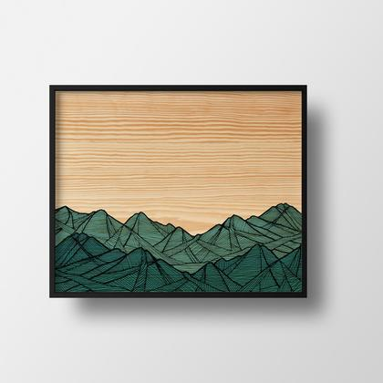 Art Print - Stuart Range 11x14 by Red Umbrella