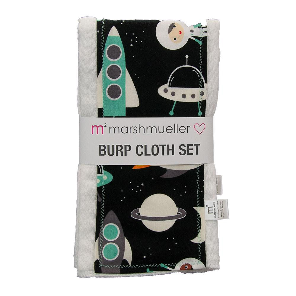 Burp Cloth Set - Space Explorers by MarshMueller