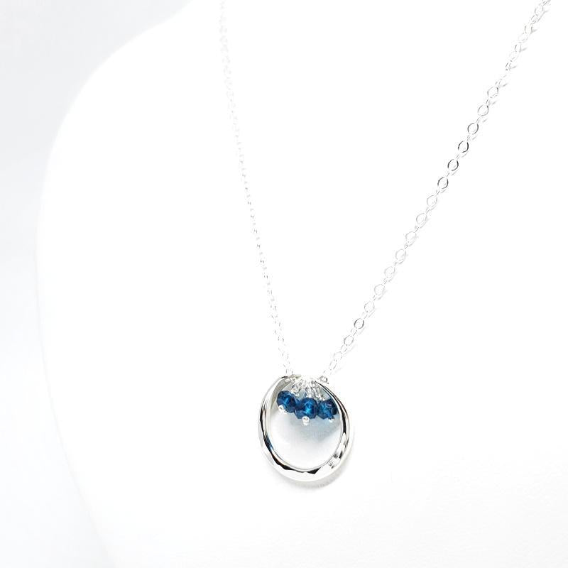 Necklace - Serena Blue Topaz Sterling Silver by Foamy Wader
